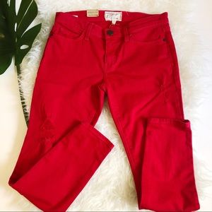 Current Elliot Red Stiletto Jean Size 27 NWT